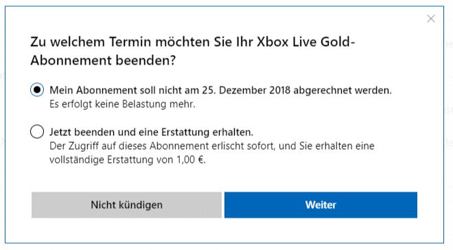 Xbox One Abo Kündigen