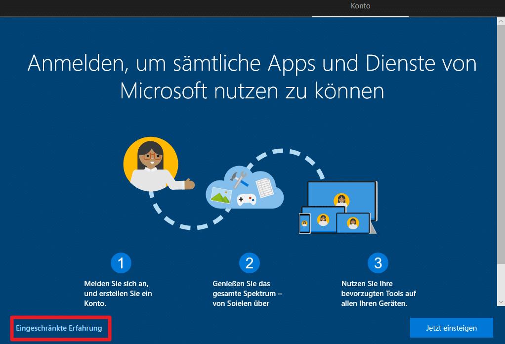 Windows 10 Offline Konto